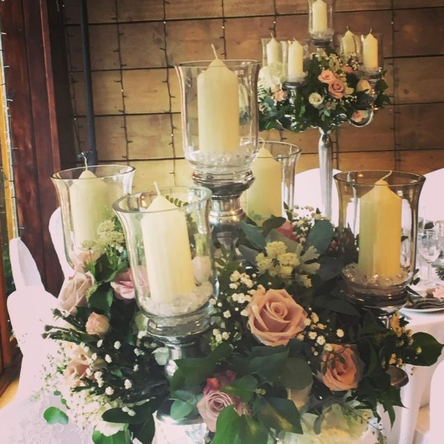 blushpink blushpinkwedding greenroomflowers wedding weddingdecor tableflowers tabledecoration candelabras theoldbarnsrothwell weddingideashellip