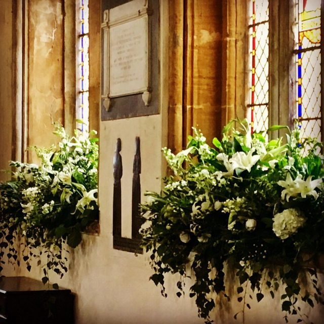 Todays fun Thanks Rita weddinginspiration wedding church churchflowers flowerlove venuedecorhellip
